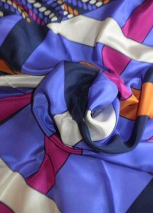 Платок шарф элегантный натуральный шелк christian fischbacher шов роуль 88x88 см1 фото