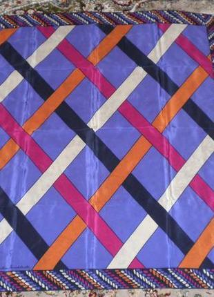 Платок шарф элегантный натуральный шелк christian fischbacher шов роуль 88x88 см2 фото