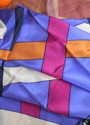 Платок шарф элегантный натуральный шелк christian fischbacher шов роуль 88x88 см3 фото