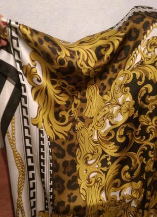 Огромный !платок с узорами полиэстер,140*140см2 фото