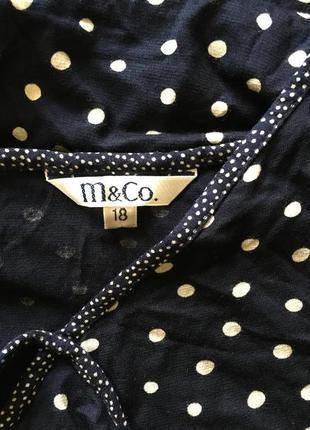 Натуральное трикотажное платье в горох, m&co3 фото