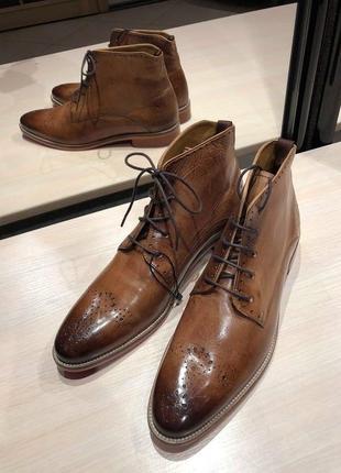 Идеальные кожаные туфли.ботинки.дерби .челси melvin & hamilton7