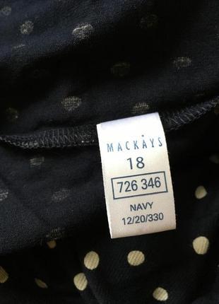 Натуральное трикотажное платье в горох, m&co6 фото