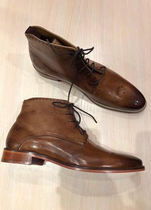 Идеальные кожаные туфли.ботинки.дерби .челси melvin & hamilton9