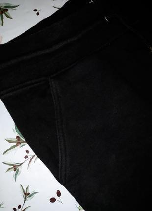 Крутые черные плотные теплые  узкие высокие штаны, размер 48 - 505