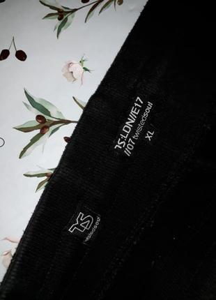 Крутые черные плотные теплые  узкие высокие штаны, размер 48 - 509