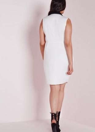 Платье-блейзер на запах с контрастным воротом missguided ms6483 фото
