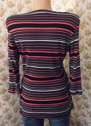 Кофточка в рубчик полосатая размер l-xl3 фото