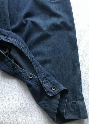 Актуальный джинсовый комбинезон4 фото