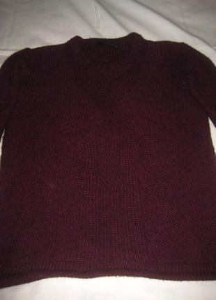 Свободный свитер от calvin klein jeans, марсала5