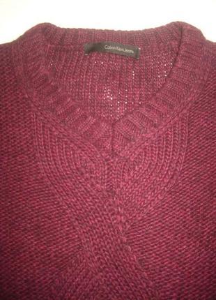 Свободный свитер от calvin klein jeans, марсала2