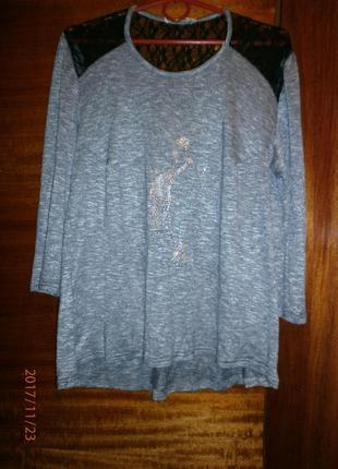 Новая трикотажная блуза-52-54р
