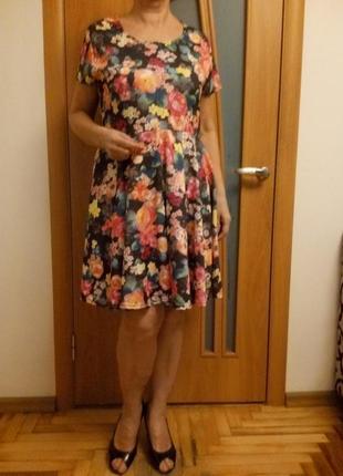 Цветное шикарное платье5