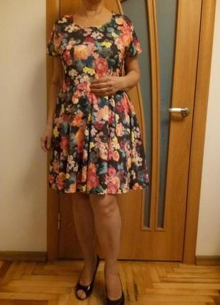 Цветное шикарное платье2
