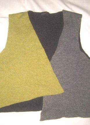 Асиметричный жилет 100% pure new wool1