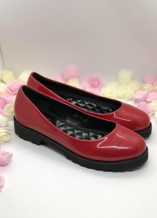 Красные лаковые туфли5
