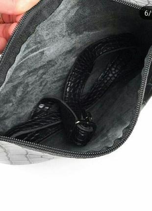 Черная сумка с длинным ремешком/ эко- кожа5