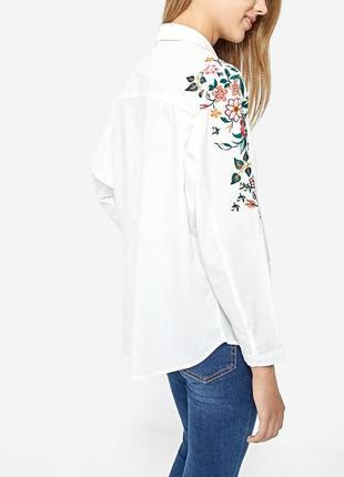 Блузка с вышивкой,вышиванка, stradivarius,новая2