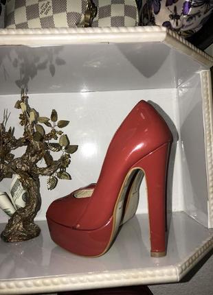 Туфли красные лак1