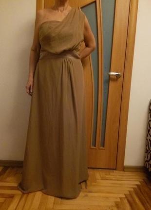 Красивое шифоновое платье в пол. размер 54.2