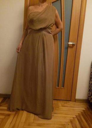 Красивое шифоновое платье в пол. размер 54.4