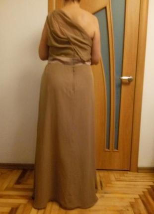 Красивое шифоновое платье в пол. размер 54.3