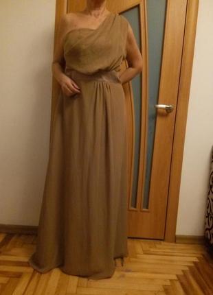 Красивое шифоновое платье в пол. размер 54.5