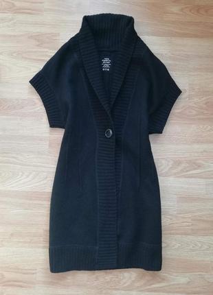 Крутая качественная фирменная шерстяная кофта - кардиган - жилет public - размер 461