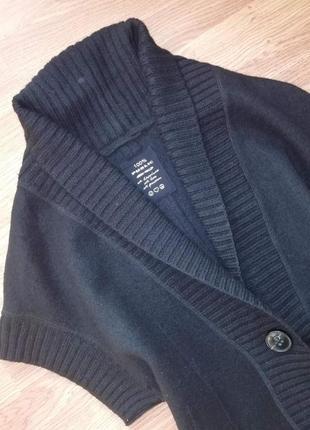 Крутая качественная фирменная шерстяная кофта - кардиган - жилет public - размер 463