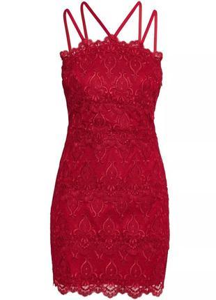 Красивое кружевное коктейльное платье h&m.1