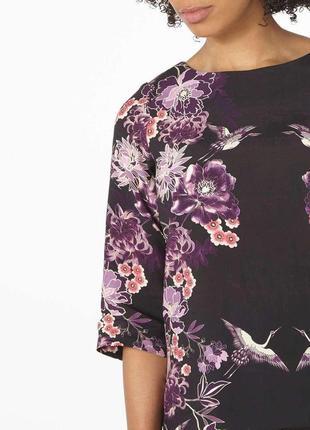 Блуза с цветочный принтом цветы zara zara2