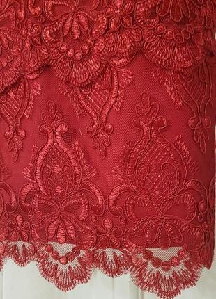 Красивое кружевное коктейльное платье h&m.5
