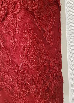 Красивое кружевное коктейльное платье h&m.6