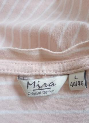Трикотажная футболка в полоску mira5