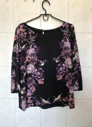 Блуза с цветочный принтом цветы zara zara5