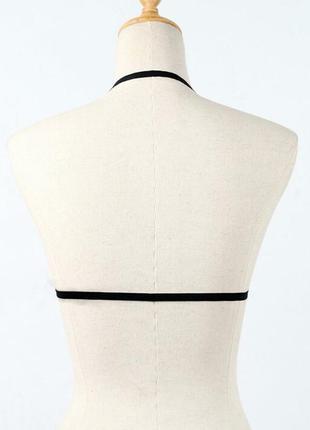 Эффектная портупея на грудь, стрэп бра, дополнение к лифу, эротичный и стильный2
