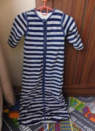 Спальный мешок спальник с рукавами, рост 86-104см