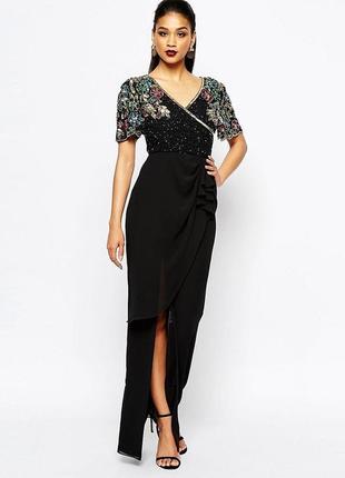 Как новое платье asos! расшитое бисером, камнями, стеклярусом!1 фото