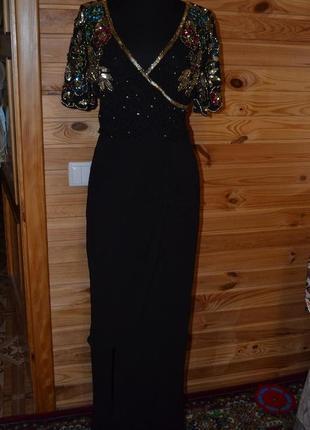 Как новое платье asos! расшитое бисером, камнями, стеклярусом!5 фото
