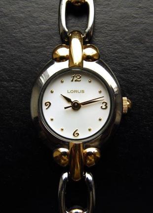 Lorus lr0446 миниатюрные серебристо-золотистые часы от seiko