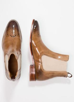 Идеальные кожаные туфли.ботинки.дерби .челси melvin & hamilton2