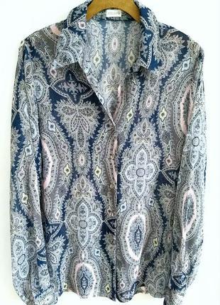 Шикарная блуза/рубашка из воздушного шифона2