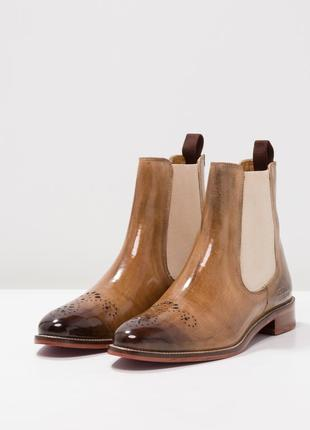 Идеальные кожаные туфли.ботинки.дерби .челси melvin & hamilton3
