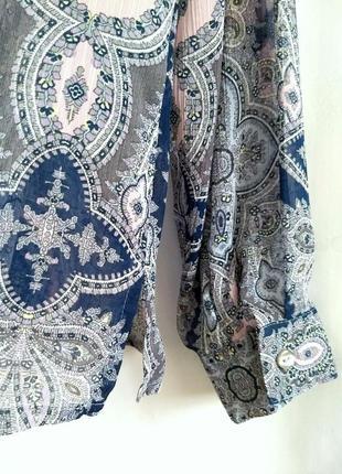 Шикарная блуза/рубашка из воздушного шифона4