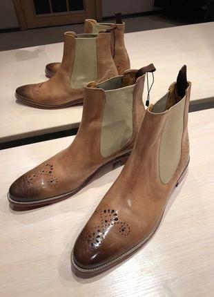 Идеальные кожаные туфли.ботинки.дерби .челси melvin & hamilton8