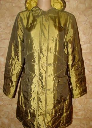 Демисезонная удлиненная стеганая курточка tribune р.441 фото