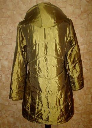 Демисезонная удлиненная стеганая курточка tribune р.444 фото