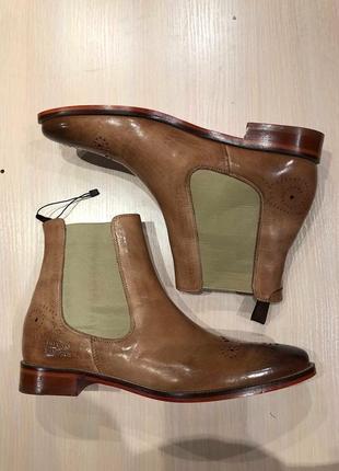Идеальные кожаные туфли.ботинки.дерби .челси melvin & hamilton10