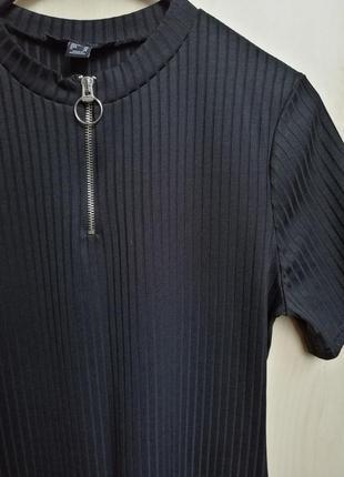 Платье в рубчик со змейкой - кольцом от atmosphere размер m2