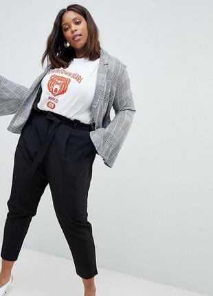 Трендовые брюки с поясом-бантом